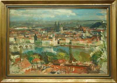 Rudolf Lexa - Praha ze Seminářské zahrady