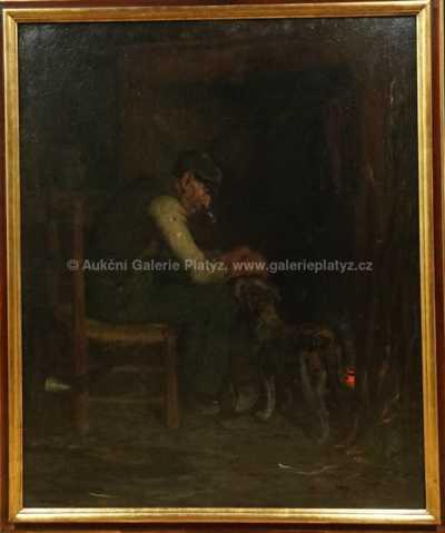Ernest Robert Salmon  Noir - S věrným přítelem u krbu