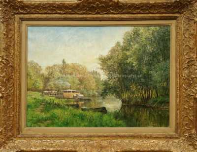 Gabriel Mathieu - Dům na řece