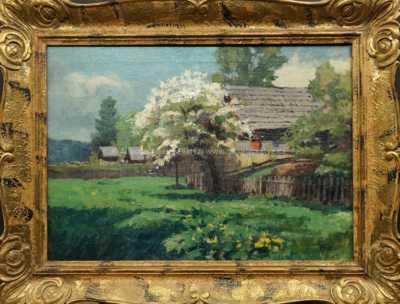 Jiří Heřman - Chaloupka u rozkvetlého stromu