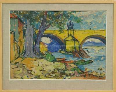 František  Max - Pod Karlovým mostem