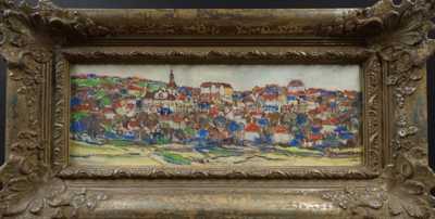 František  Max - Pohled na město
