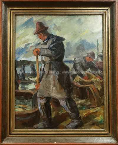 Jan  Kojan - Výlov rybníka