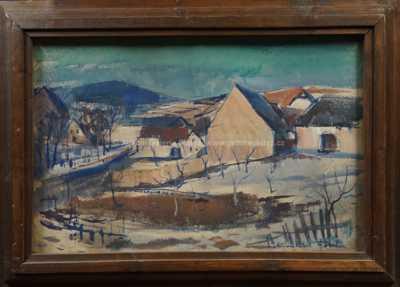 František Emler - Zima na vsi
