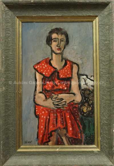 Autor neurčen - Sedící žena