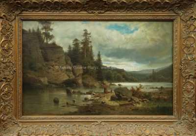 Adolf Chwala - Krajina s pradlenou u řeky