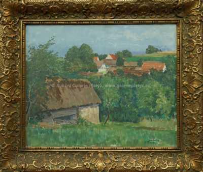 Jaromír Kunc - Pohled na vesnici