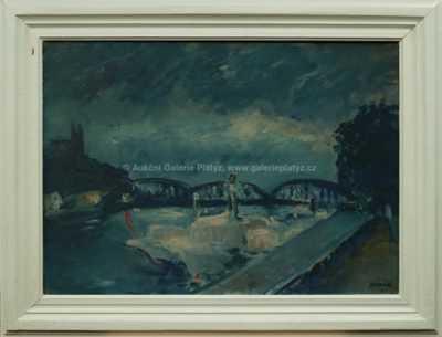 František Jiroudek - Železniční most