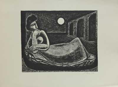 Karel Černý - Žena a měsíc
