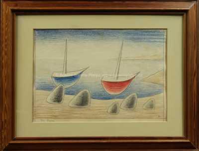 Jan  Zrzavý - Dvě loďky a pět kamenů