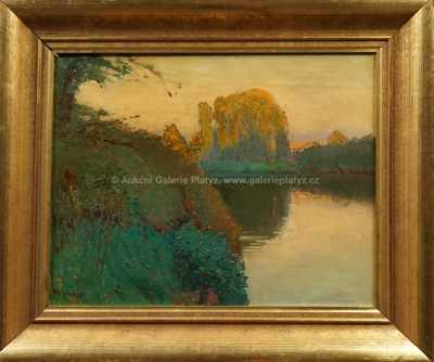Autor neurčen - Vrba u rybníka