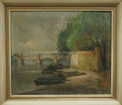 Karel Hodr - Pohled na Karlův most