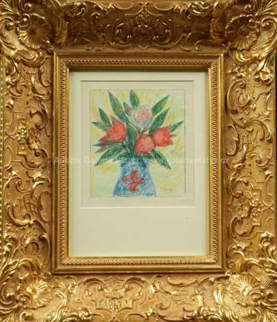 Jan  Zrzavý - Blahopřání s tulipány