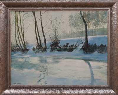 Gustav  Porš - Potok v zimě