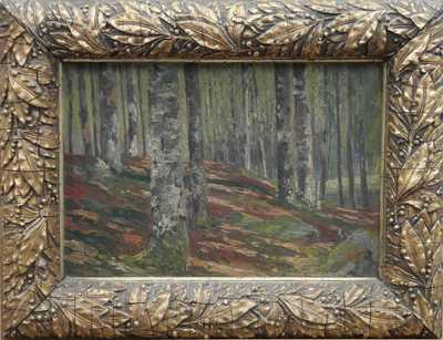 Václav Březina - Pohled do lesa
