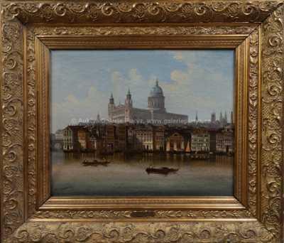 Johann Wilhelm Jankowski - Pohled na starý Londýn