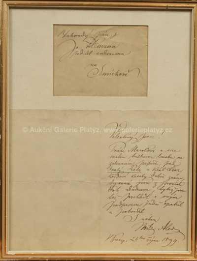 Mikoláš Aleš - Dopis