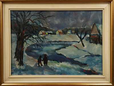 František Emler - Zima na řece