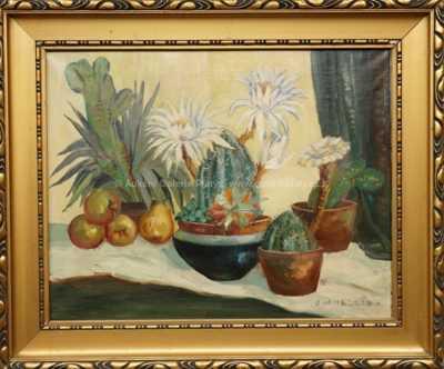 Julie Mezerová-Winterová - Zátiší s kaktusy