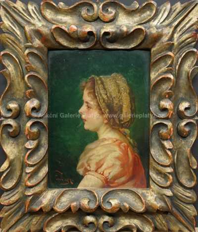 Autor neurčen - Dívka s čepcem