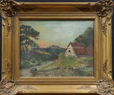 Alois Kirnig - Chaloupka u potoka