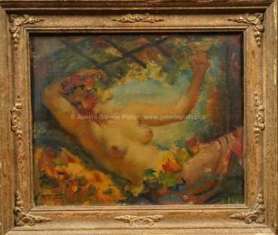 František Xaver Naske - Dívčí akt