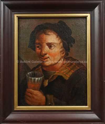 Neznačeno - Se sklenicí vína