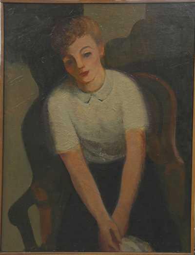 Karel Souček (Bor) - Portrét Evy Foustkové-Kemrové