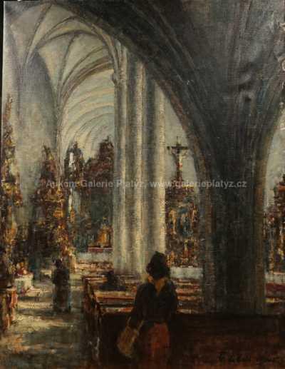 František Líbal - Interiér kostela
